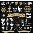Tattoo Elements Decorative Icons Set vector image