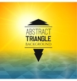 Abstract yellow sunset with blue triangle field vector image