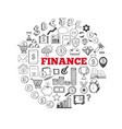 business and finance icons 2 vector image