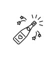 champagne bottle opening icons celebration vector image