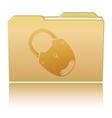 Folder with padlock vector image