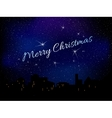 Merry Christmas Star background vector image