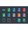 Set of Program File Formats and Labels icons vector image