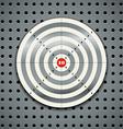 Target on steel background vector image