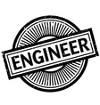 Engineer rubber stamp vector image