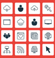 set of 16 web icons includes blog page team vector image