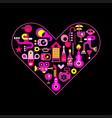 city life heart vector image vector image