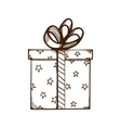 Present box with ribbon and bow vector image