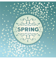Spring label design with flowers vector image vector image