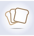 toast icon vector image