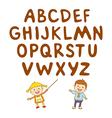 kids school art boy abc alphabet aducation vector image