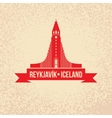 Hallgrimskirkja The symbol of Reykjavik Iceland vector image