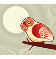 owl and moonlight vector image vector image