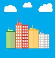 City building icon vector image