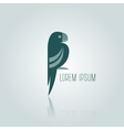 Logo blue Parrot vector image