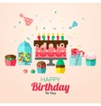 Birthday Cupcakes Poster vector image