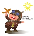 Birthday greetings for the pilot vector image