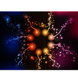 Burst of colorful stars background vector image