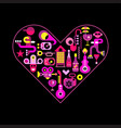 city life heart vector image