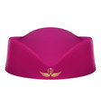 classic blue stewardess hat forage cap of air vector image