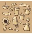 Coffee Pattern hand drawn vintage vector image