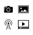 dslr camera simple related icons vector image