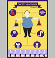 health risk vector image