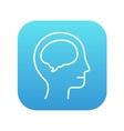 Human head with brain line icon vector image