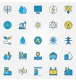 Industrial colorful icons vector image