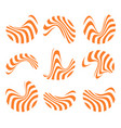 isolated abstract orange and white logo set of vector image