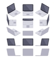 Isometric gray laptop vector image