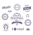 Music labels and logos vector image