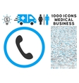 Phone Icon with 1000 Medical Business Pictograms vector image