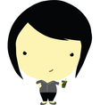 Sassy fat girl vector image