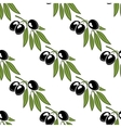 Seamless pattern of a leafy olive branch vector image