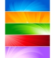 Vector set of colorful banners vector image