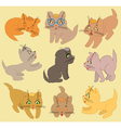 Set Of Cartoon Kittens vector image vector image