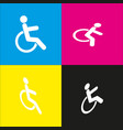 disabled sign   white icon vector image
