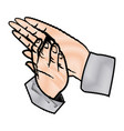 hands man clapping applause gesture vector image
