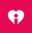 letter i heart logo icon design template elements vector image