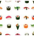 Sushi seamless pattern - asian food vector image