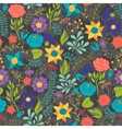Romantic seamless pattern of various flowers in vector image