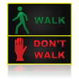 Walk and dont walk sign vector image vector image