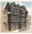 Vintage View of Feathers Hotel at Ludlow in vector image