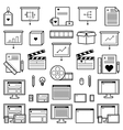 Designer Website Icons vector image vector image