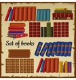 Set of books from the library vector image