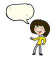 cartoon woman laughing and pointing with speech vector image