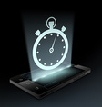 Stopwatch icon Hologram vector image