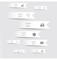 Paper ribbons background vector image
