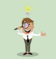businessman has found a solution vector image